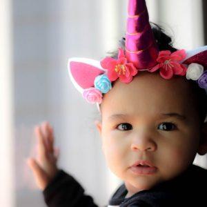 Swurly Unicorn Headband- Lighting Hot Pink