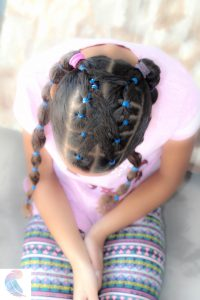 banded hairstyle