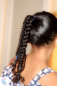 Mixed kids protective style