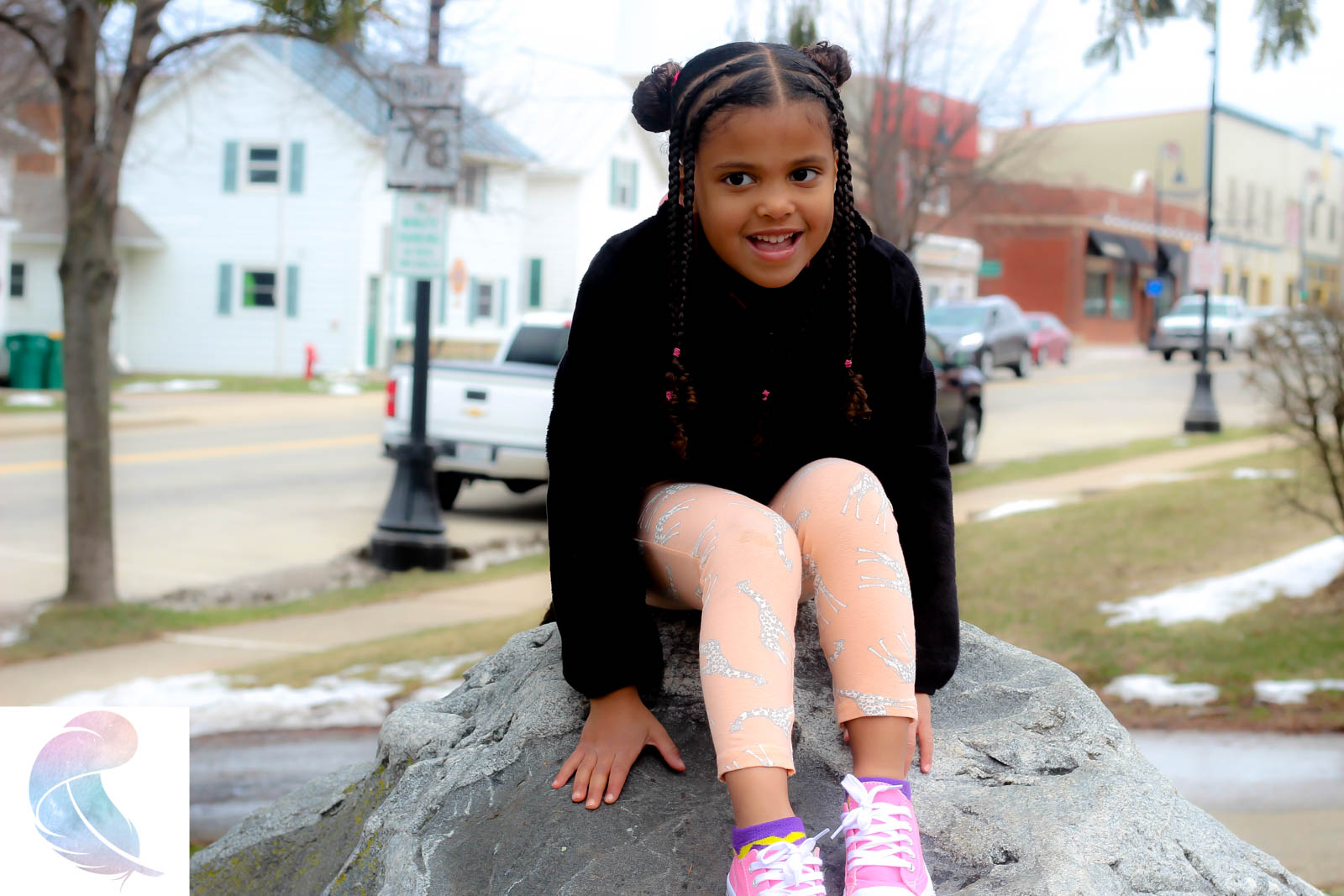 Braids and Buns protective style plus exploring Mount Horeb, WI