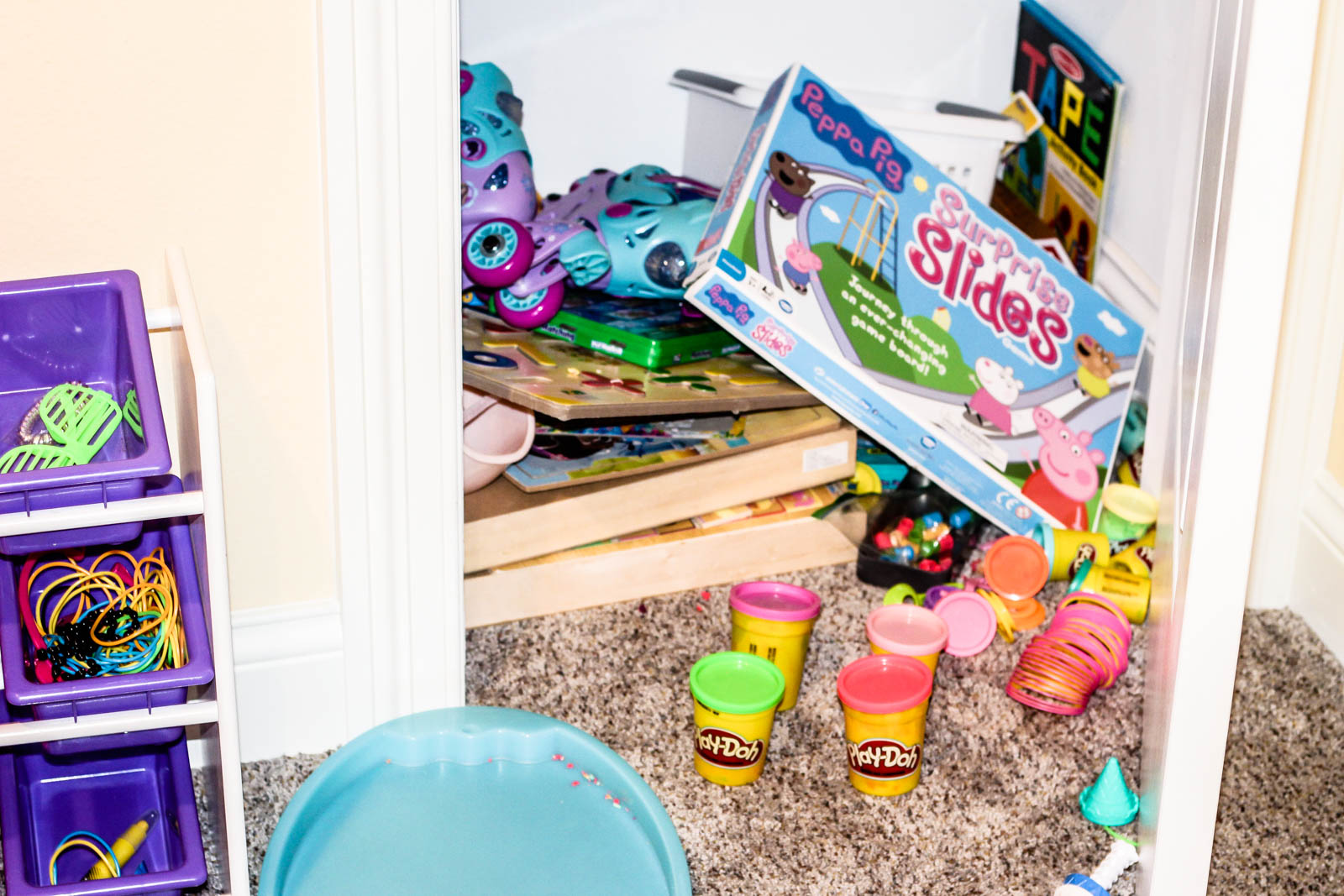 organizing playroom